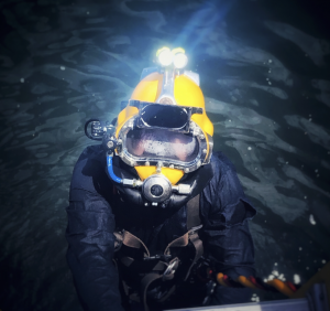 Diver in KM37 Exiting Water