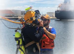 Tender Helping Diver